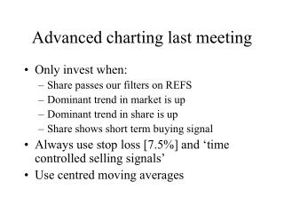 Advanced charting last meeting