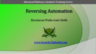 Reversing Automation