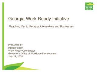 Georgia Work Ready Initiative