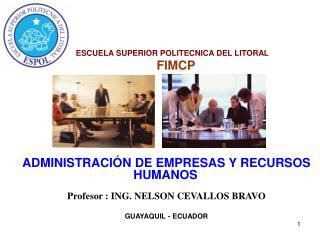 ESCUELA SUPERIOR POLITECNICA DEL LITORAL         FIMCP