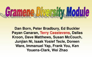 Gramene Diversity Module