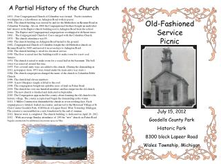 A Partial History of the Church