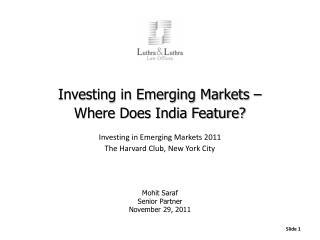Mohit  Saraf Senior Partner November 29, 2011