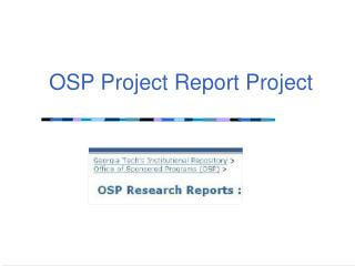 OSP Project Report Project