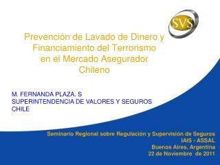 Prevención de Lavado de Dinero  y Financiamiento del Terrorismo  en el Mercado Asegurador Chileno