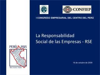 La Responsabilidad Social de las Empresas - RSE