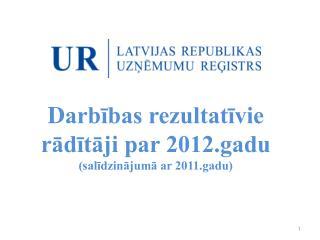 D arbības rezultatīvie rādītāji par 2012.gadu  (salīdzinājumā ar 2011.gadu)