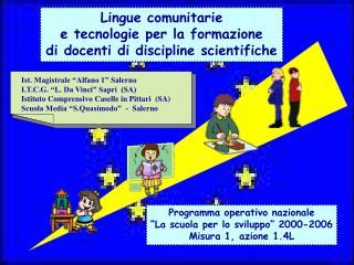 Lingue comunitarie  e tecnologie per la formazione di docenti di discipline scientifiche