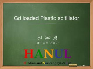 Gd  loaded Plastic  scitillator