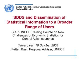 SDDS and Dissemination of Statistical Information to a Broader Range of Users