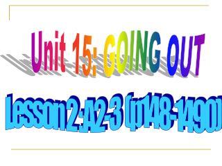 Lesson 2 : A2-3  (p148-1490)