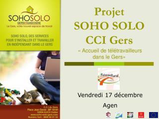 Projet  SOHO SOLO   CCI Gers  « Accueil de télétravailleurs  dans le Gers»