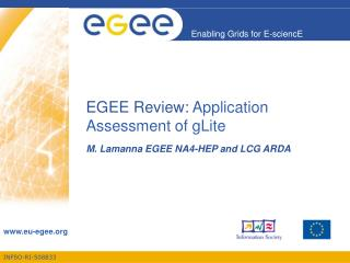 EGEE Review:  Application Assessment of gLite
