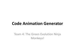 Code Animation Generator