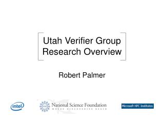 Utah Verifier Group Research Overview