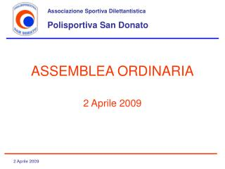 ASSEMBLEA ORDINARIA