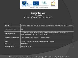 Lucembursko Zeměpis VY_32_INOVACE _ 296, 15.  sada, Z2