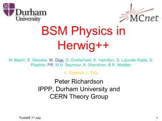 BSM Physics in Herwig++