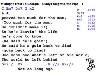 Midnight Train To Georgia – Gladys Knight & the Pips    1
