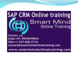 SAP CRM online training | Online  SAP CRM Training in usa, u