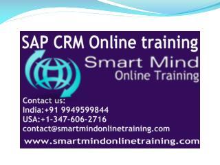 SAP CRM online training | Online  SAP CRM Training in usa, u