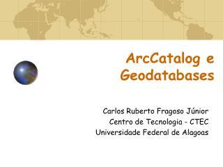 ArcCatalog e Geodatabases
