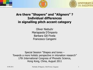 Are there �Shapers� and �Aligners� ? Individual differences  in signalling pitch accent category