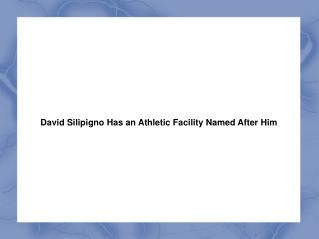 David Silipigno Has an Athletic Facility Named After Him
