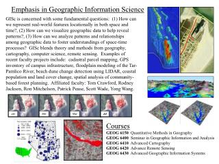Emphasis in Geographic Information Science