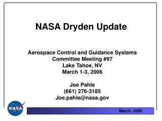 NASA Dryden Update
