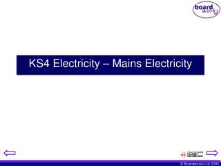 KS4 Electricity   Mains Electricity