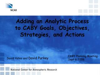 Adding an Analytic Process to CABY Goals, Objectives, Strategies, and Actions