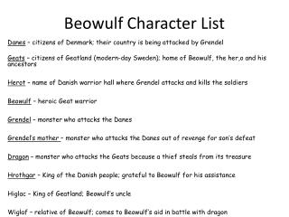 a character analysis of wiglaf in beowulf Monkeynotes study guide summary-beowulf-character analysis/hrothgar-free book notes/chapter summary.