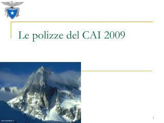 Le polizze del CAI 2009