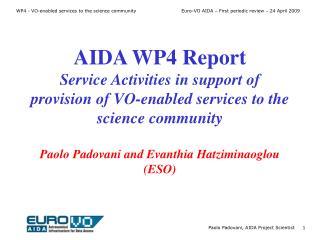 WP4 main objectives