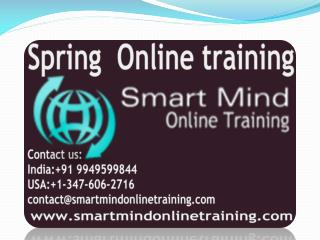Spring online training | Online Spring Training in usa, uk,