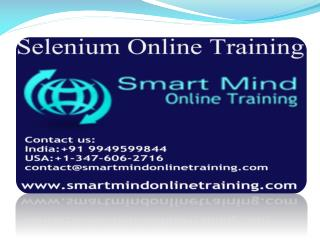 Selenium online training | Online Selenium Training in usa,