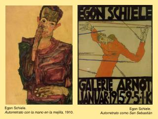 Egon Schiele.  Autorretrato con la mano en la mejilla , 1910.