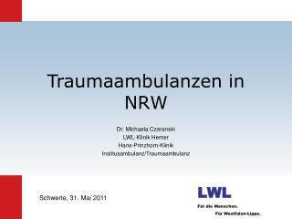 Traumaambulanzen in NRW