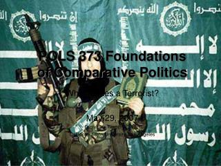 POLS 373 Foundations of Comparative Politics