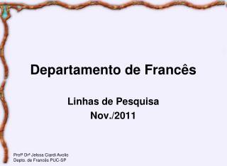 Departamento de Francês
