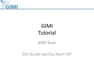 GIMI Tutorial