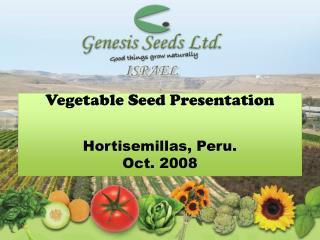 Vegetable Seed Presentation