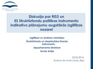 23.04.2014. Radisson Blu Hotel Latvija, Rīgā