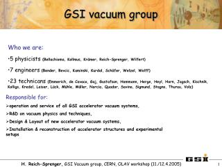 GSI vacuum group