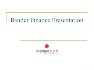 Banner Finance Presentation