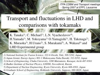 Transport and fluctuations in LHD and comparisons with tokamaks