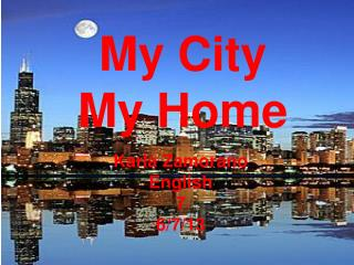 My City  My Home
