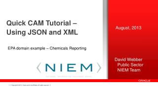 Quic k CAM Tutorial – Using JSON and XML