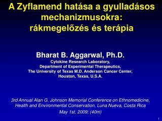 A Zyflamend hatása a gyulladásos mechanizmusokra: rákmegelőzés és terápia